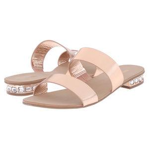 NWT Dune London Nesha Jewel Heel Leather Sandals